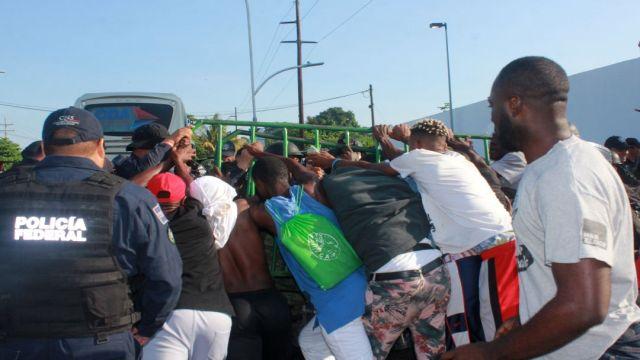 Foto Migrantes africanos en Chiapas rechazan refugio 6 septiembre 2019