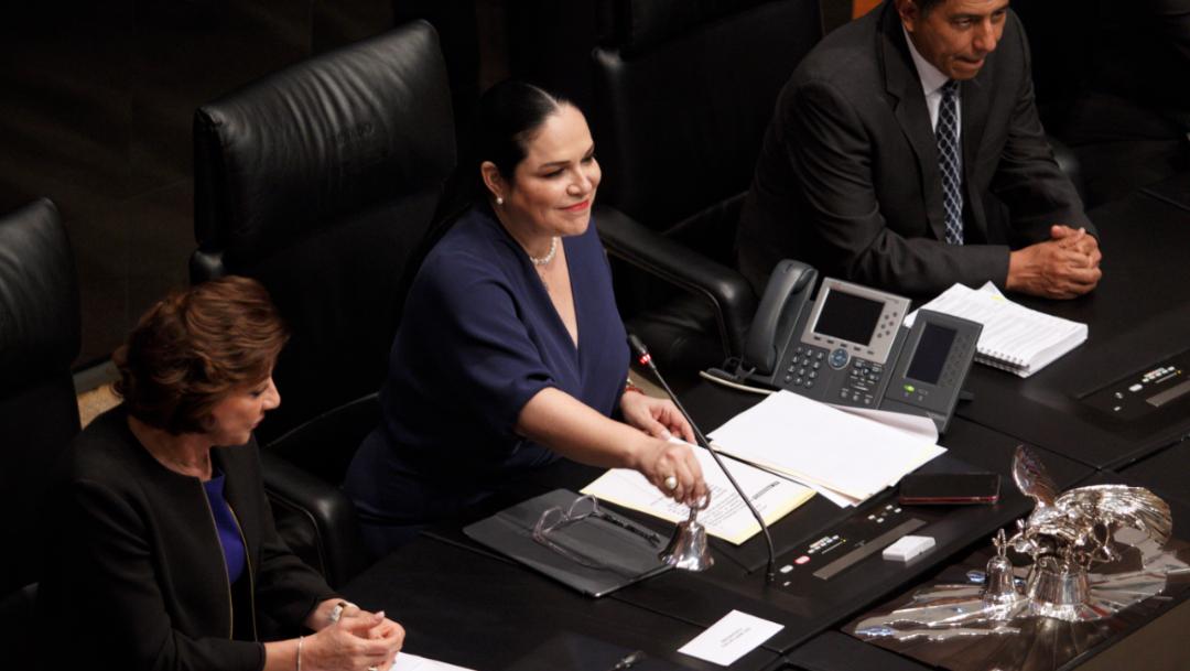 Foto: La presidenta del Senado de la República, Mónica Fernández, 6 septiembre 2019