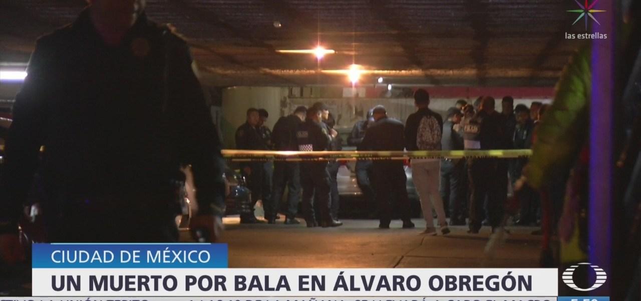 Muere hombre por bala perdida en la Álvaro Obregón, CDMX