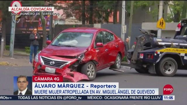 Muere mujer atropellada en alcaldía Coyoacán, en CDMX