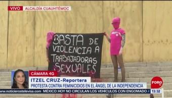 FOTO: Mujeres Anarquistas Protestan Contra Asesinato Sexoservidoras CDMX,