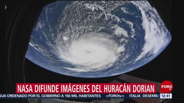 """NASA difunde nuevas imágenes del huracán """"Dorian"""""""