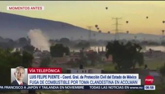 FOTO: No se reportan víctimas por fuga de combustible en Acolman: Luis Felipe Puente, 15 Septiembre 2019