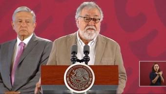 El subsecretario de Derechos Humanos, Población y Migración, Alejandro Encinas, habla sobre el caso Ayotzinapa, 4 septiembre 2019