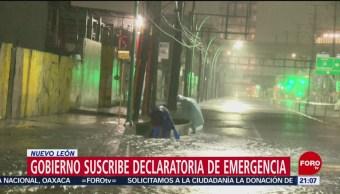 FOTO: Nuevo León suscribe declaratoria de emergencia por depresión tropical 'Fernand', 7 septiembre 2019