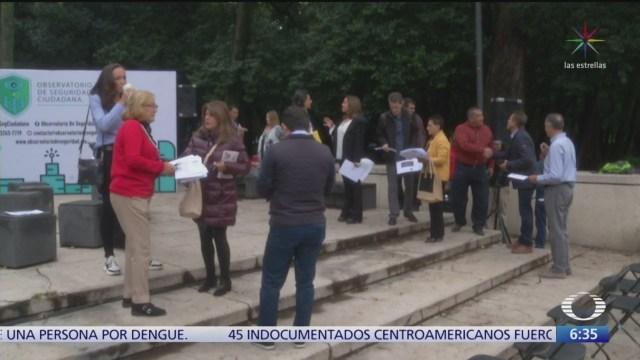 Observatorio de Seguridad Ciudadana, organización de vecinos contra la delincuencia en CDMX