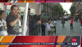 FOTO: Padres Normalistas Desaparecidos Realizan Mitin Zócalo CDMX