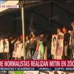 FOTO: Padres Normalistas Realizan Mitin Zócalo CDMX