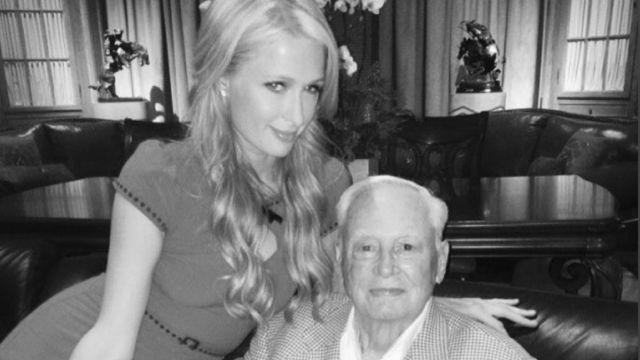 Paris Hilton y su abuelo William Barron