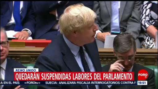 Foto: Parlamento Británico Veta Elecciones Anticipadas Johnson 9 Septiembre 2019