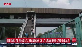 FOTO: Paro 12 Planteles UNAM Por Marcha 43 Ayotzinapa