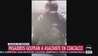 FOTO: Video Pasajeros Golpean Asaltante Coacalco