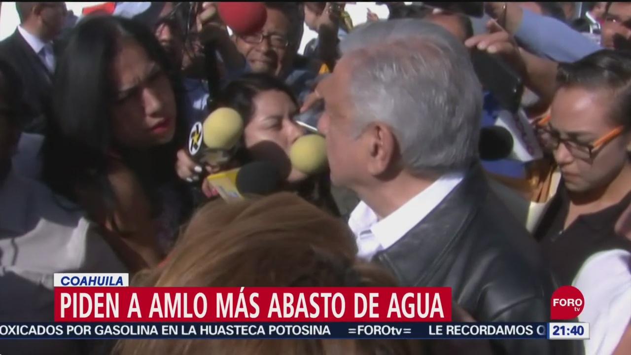 Foto: Piden Amlo Abasto Agua Coahuila 27 Septiembre 2019