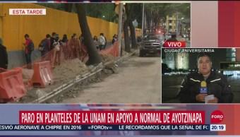 Foto: Unam Planteles Paro Apoyo Normalistas Ayotzinapa 25 Septiembre 2019