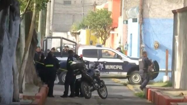 Foto: Policías en Tlalnepantla por hallazgo de cabeza humana,5 de septiembre de 2019, Edomex