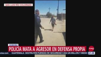 Foto: Policía Mata Hombre Defensa Propia Sonora Video 20 Septiembre 2019