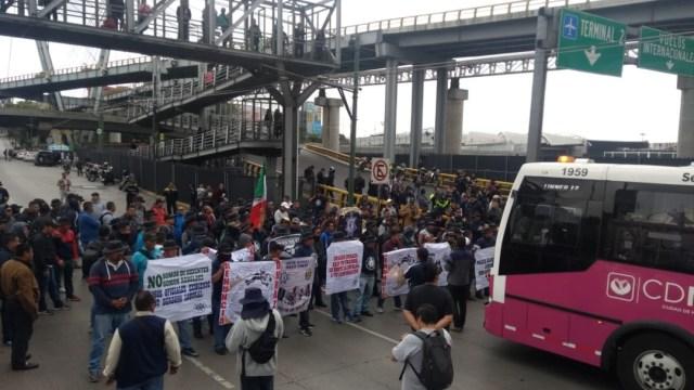 policias federales bloquen aicm (1)