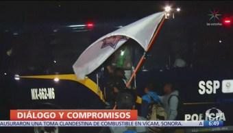 FOTO: Policías federales inconformes se comprometieron a no realizar bloqueos en CDMX, 16 septiembre 2019
