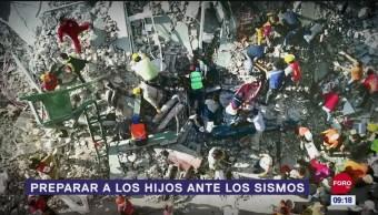 Preparar a los hijos ante los sismos