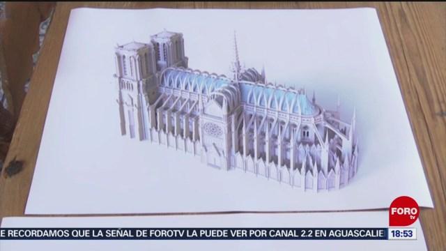 FOTO: Presentan proyecto para reconstrucción Notre Dame