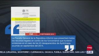 FOTO: Presentarán recursos legales contra funcionarios por omisiones en caso Ayotzinapa, 14 septiembre 2019