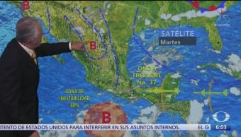 Pronostican lluvias fuertes en noroeste, norte, occidente y centro del país