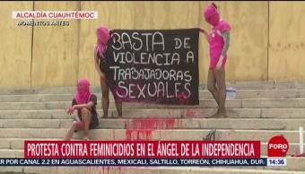 FOTO: Protesta Contra Feminicidios Ángel Independencia