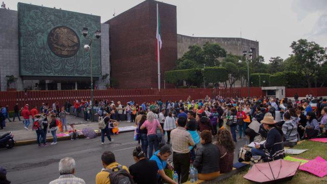 Protesta en San Lázaro.