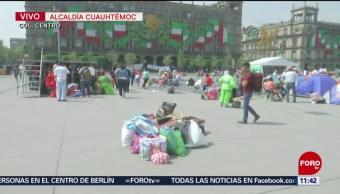 FOTO: Protestan damnificados por sismo del 2017 en el Zócalo capitalino, 7 septiembre 2019
