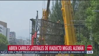 Foto: Reabren Circulación Carriles Laterales Viaducto Tras Retiro Anuncio Espectacular,