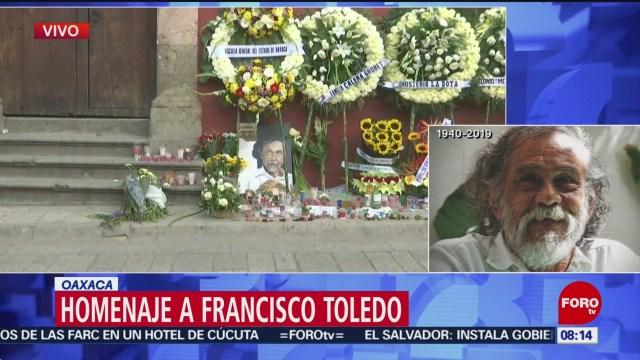 FOTO: Reacciones por la muerte del artista plástico Francisco Toledo, 7 septiembre 2019