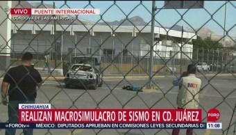 Realizan macrosimulacro de sismo en Ciudad Juárez, Chihuahua