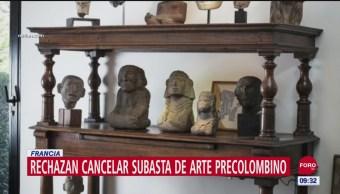 Rechazan cancelar subasta de arte precolombino en Francia