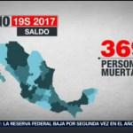 Foto: Recuento Daños Materiales Fallecimientos Sismo 19 Septiembre