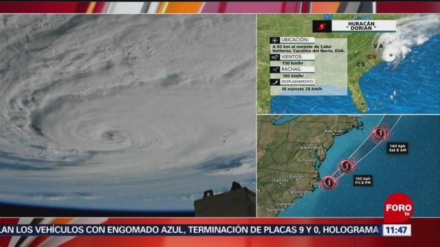 Revelan imágenes del huracán 'Dorian' en Carolina del Norte