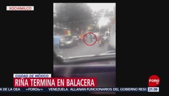 FOTO: Riña termina en balacera en San Lorenzo, Xochimilco, 7 septiembre 2019