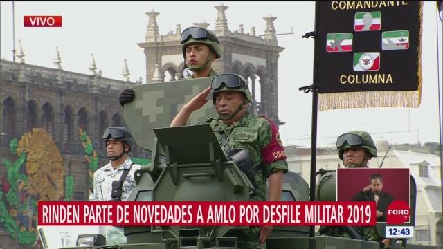 FOTO: Rinden parte de novedades tras desfile militar 2019 en CDMX, 16 septiembre 2019