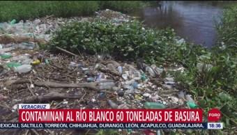 Foto: Río Blanco Veracruz Contaminado Toneladas Basura 24 Septiembre 2019