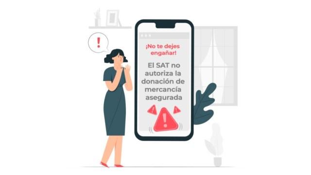 IMAGEN El Servicio de Administración Tributaria alerta de correos y llamadas falsas sobre donaciones (Twitter SAT)