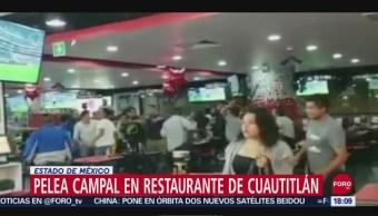 FOTO: Se Arma Pelea Campal Restaurante Comida Rápida Cuautitlán