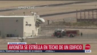 Se estrella avioneta sobre techo de edificio en Maricopa, Arizona
