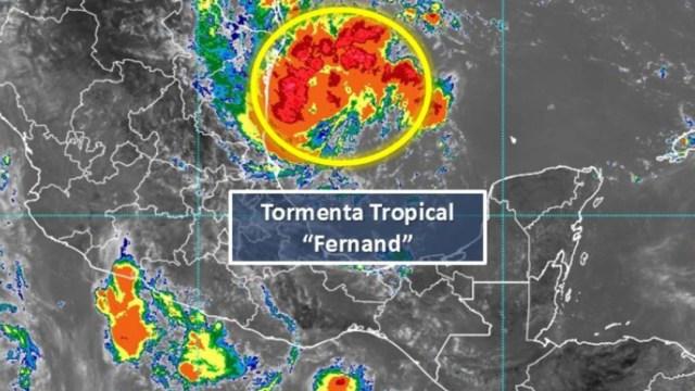 """IMAGEN Se forma la tormenta tropical """"Fernand"""" en el Golfo de México (Conagua)"""