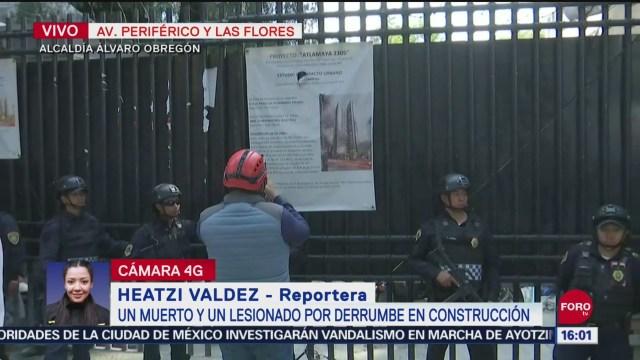 FOTO: Se registra derrumbe en construcción en Periférico Sur, 27 septiembre 2019