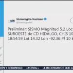 Foto: Sismo Chiapas Hoy 10 Septiembre 2019