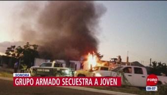 Secuestran a hombre e incendian su casa, con niños adentro, en Sonora