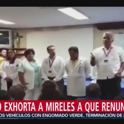 Senado exhorta a Mireles a que renuncie