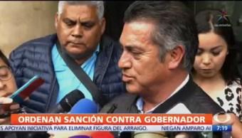 Senado pide a Congreso de Nuevo León sancionar a gobernador