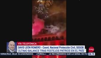 FOTO: Suman 16 heridos por pirotecnia durante fiestas patrias en Xalapa,16 septiembre 2019