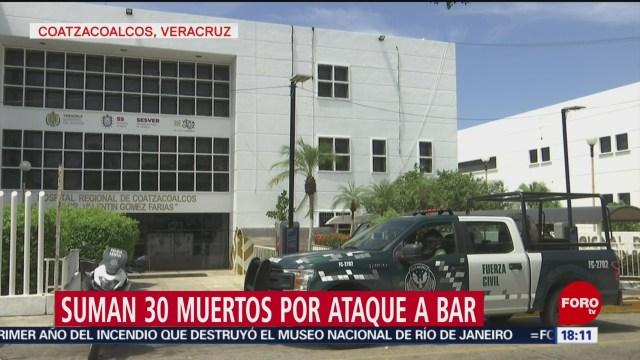 FOTO: Suman 30 Muertos Por Ataque Bar Coatzacoalcos