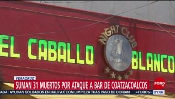 Foto: Suman 31 Muertos Ataque Bar Caballo Blanco Coatzacoalcos 9 Septiembre 2019